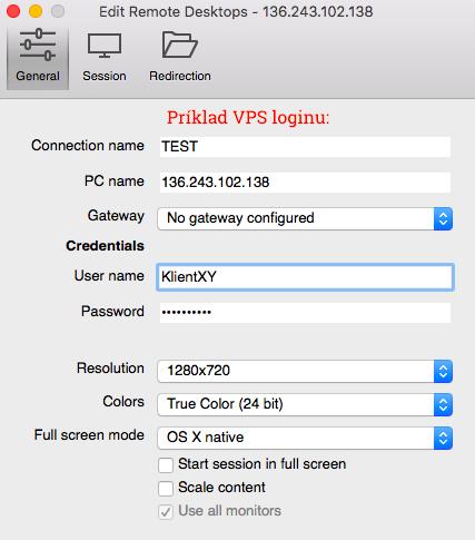microsoft remote desktop - vps login - aosbratislava.sk - appstore - virtual private server - login - pripojenie - 02